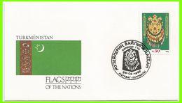 Turkménistan 1992 8 FDC Drapeaux Culture Turkmène - Turkménistan