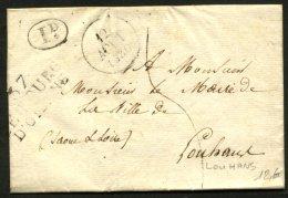 ISERE: Pli De BOURG D'OISAN De 1830 En Port Du Avec MPL  37 LE BOURG D'OISANS Pour LOUHANS - Postmark Collection (Covers)