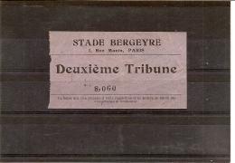 TICKET STADE BERGEYRE PARIS - Tickets - Vouchers