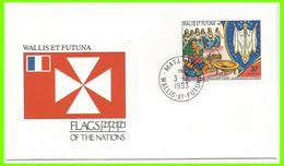 Wallis Et Futuna 1991 415 FDC Oblitération Mata-Utu 1993 Drapeaux Fête Assomption Vierge - FDC