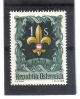EBA470 ÖSTERREICH 1951 MICHL  966 ANK 983 WELTJAMBOREE ** Postfrisch SIEHE ABBILDUNG - 1945-.... 2ème République