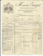 23 - Creuse - La Souterraine - Facture H.Guyot - Fabricant De Taillanderie - 1899 - - 1800 – 1899