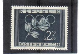 EBA471 ÖSTERREICH 1952 ANK 985 MICHL 969 ANK 985 OLYMPISCHE SPIELE **  POSTFRISCH 10% KATALOG - 1945-.... 2ème République