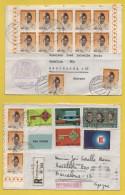 Luxemburg / Einschreiben + Beleg Von Luxemburg Nach Barcelona (Spanien) Von 1968 - Mischfrankatur U.a. Caritas 1967 - Brieven En Documenten