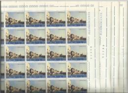 1973 Italia Italy Repubblica VENEZIA  VENICE 20 Lire (x100 Valori) In 4 Fogli Di 25v. MNH** Sheets - Fogli Completi