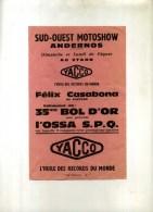 - FRANCE 33 . PROSPECTUS SUD OUEST MOTOSHOW  ANDERNOS . - Programs
