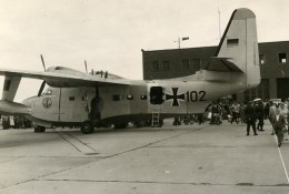 USA Avion De Transport Militaire Grumman Albatross SC-102 Allemand Ancienne Photo 1960 - Aviation