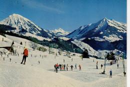 Leysin Champ De Ski De Planpraz Au Fond Le Mont D'or Et Le Pic Chaussy - VD Vaud