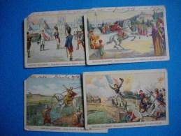 HISTOIRE  - 4  CHROMOS - GESTES CELEBRES  - HISTOIRE  - - Artis Historia