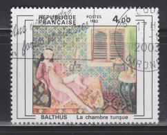 """= Série Création Philatélique: """"La Chambre Turque"""" Oeuvre De Balthus N°2245 Oblitéré - Frankreich"""