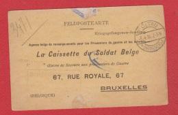 Feldposkarte --  La Caissette Du Soldat Belge --  Soltau  -- 4 Mars 1916 - German Occupation