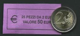 ITALIA  2010 - ROLL  2 EURO  DANTE  ORIGINALE ZECCA - DATA VISIBILE - FDC - Rotolini