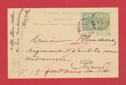Entier Postal  --  De Bruxelles  --  Pour Paris  --  1 Aout 1905 - Cartoline [1871-09]