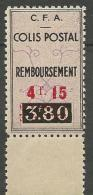 ALGERIE COLIS POSTAUX  YVERT N° 77a SURCHARGE ROUGE  NEUF**   SANS   CHARNIERE /  MNH - Algérie (1924-1962)