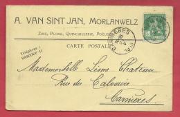 Morlanwelz - Carte Publicitaire De A. Van Sint Jan - Quincailler, Plombier , Etc ... - 1913 ( Voir Verso ) - Morlanwelz