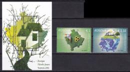 Kosovo 2016 Europa, Environment, Ecology, Sun Flower, Cow, Set + Block  MNH - 2016