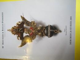 Armes Et Uniformes/Catalogue De Vente Aux Enchéres/ RIEUNIER & BAILLY-POMMERY/Militaria/2001  CAT142 - Catalogs