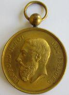 M01938  LEOPOLD II - PREMIER PRIX DES CARTES DE BAL - AMIS REUNIS A MR VANGRINDERBEEK - 1878  (24g) Bélière - Royaux / De Noblesse