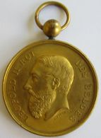 M01938  LEOPOLD II - PREMIER PRIX DES CARTES DE BAL - AMIS REUNIS A MR VANGRINDERBEEK - 1878  (24g) Bélière - Adel