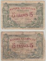 B00432  5 FRANCS  STACQUET  - 30-12-19 Et 3-1-21  - B/TB - [ 2] 1831-... : Belgian Kingdom