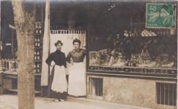 CARTE PHOTO NON SITUEE - CHARCUTERIE - COMESTIBLES - Carte écrite à Colombes (au Dos) - Postkaarten