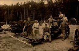 Camp De Bitche, Materiels Artillerie, Souvenir 1925   (bon Etat)  Carte Photo (charles Montag). - Regimenten