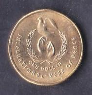 Australia 1986 $1 International Year Of Peace AUNC - Decimal Coinage (1966-...)