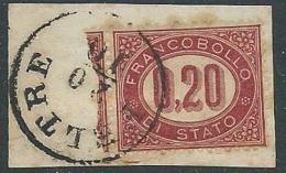 1875 REGNO USATO SERVIZIO DI STATO 20 CENT - U30-10 - Servizi