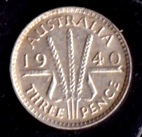 Australia 1940 Threepence GVF - Sterling Coinage (1910-1965)