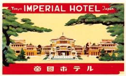 "04249 ""HOTEL IMPERIAL - TOKYO""  ETICHETTA ORIGINALE - LUGGAGE LABEL - Hotel Labels"