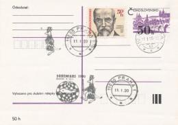 K8008 - Czechoslovakia (1990) 110 00 Praha 1: BOHEMIANS 1990, Praha 9.-22.1. (Chess Tournament); Logo: Kangaroo - Scacchi