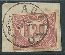 1875 REGNO USATO SERVIZIO DI STATO 20 CENT - U30-8 - Servizi