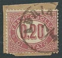 1875 REGNO USATO SERVIZIO DI STATO 20 CENT - U30-9 - 1861-78 Vittorio Emanuele II