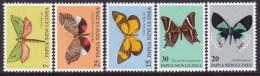 Papua New Guinea 1979 Butterflies Sc 503-07 Mint Never Hinged - Papúa Nueva Guinea