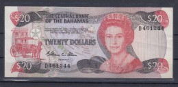 0221 BILLETE BAHAMAS 20 TWENTY DOLLARS CIRCULADO - Bahamas