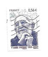 Personnalité. Abbé Pierre 4435 Oblitéré Année 2010 - France
