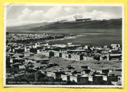 REGGIO CALABRIA -  PANORAMA E VEDUTA DELL'ETNA 210. Posted 2 Stamps. ITALIA - Reggio Calabria