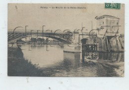 Poissy (78) : Le Moulin De La Reine Blanche En 1907 (animé)  PF. - Poissy