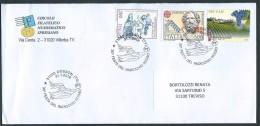 """Italia 2016; """"30° Festa Del Radicchio Rosso"""" Viaggiata Con Francobolli Vari Tra Cui Vini DOCG Del 2012. Storia Postale. - 6. 1946-.. Repubblica"""