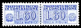 ITALIA Repubblica 1955 1984 Pacchi In Concessione Lire 60 Filigrana Stelle MNH ** Integro - 6. 1946-.. Republic