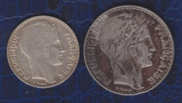 C1 LOT TURIN 10 Francs Et 20 Francs 1933 29.80 Grammes ARGENT - L. 20 Francs