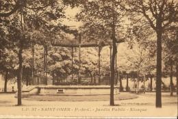 Saint Omer -jardin Public- Kiosque-cpa - Saint Omer