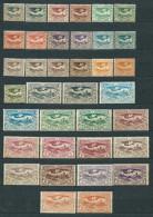 Poland 1920, Upper Silesia (Plebiscite) MiNr 13-29 ENHANCED Series Of 36 Stamps (*) - Color Tones, Paper Types... - Silésie (Haute & Orientale)