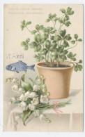 1 AVRIL MUGUETS GAUFFREE  -RECTO/VERSO-C43 - 1er Avril - Poisson D'avril