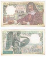 FAY 27/04 - 100 FRANCS DESCARTES - 06/01/1944 - TRES BEAU - 100 F 1942-1944 ''Descartes''
