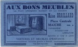 Maiche ( Doubs )  -  Buvard  Maison  Braillard -  Aux  Bons  Meubles   ( 3 ) - Blotters