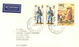 Chile1986 Santiago Prehistory Tongariki Ruins Easter Island Historical Uniform Soldier Miltary Cover - Préhistoire