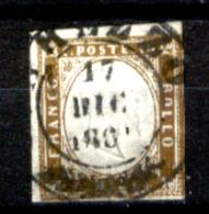 Sardegna-092 - 1861 - Sassone N. 14Co (o) Privo Di Difetti Occulti.- - Sardaigne