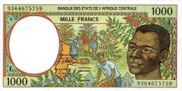 East African States - Afrique Centrale Gabon 1993 Billet 1000 Francs Pick 402 A Neuf 1er Choix UNC - Gabun