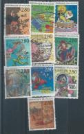 Timbres N° 2836.37.38.40.42.43.44.45.46.47 - Poststempel (Einzelmarken)